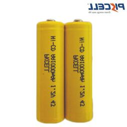 2x AA Rechargeable Battery NiCd 1000mAh 1.2V Double A For So