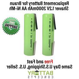 2x Batteries for Braun 8595, Series 1, Series 7, Contour, Co