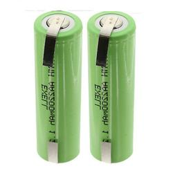 2x Exell 1.2V AA Size 2200mAh NiMH Rechargeable Batteries  w