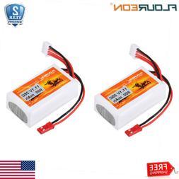 2PC 2S 7.4V 1000mAh 20C JST Plug Lipo Battery For RC Car Tru
