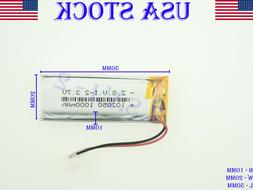 3.7V 1000mAh 102050lithium polymer lipo Rechargeable battery