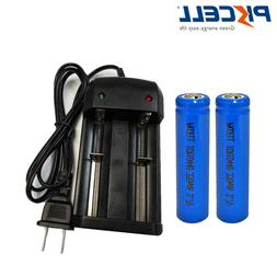 3.7V 10440 AAA Lithium Ion Rechargeable Battery 2pc+ Fast Li