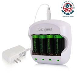 Enegitech RCR123A Arlo Battery with Charger 3.7V 750mAh Rech