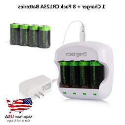 3.7V Arlo Camera Battery Charger with rcr123a lithium batter