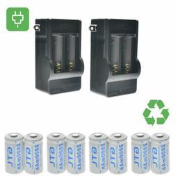 3.7V CR123A 123A CR123 16340 2800Mah Rechargeable Battery +U
