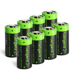 3.7V RCR123A  750mAh/pcs Rechargeable Lithium Battery for Ar