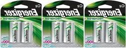 3 Energizer Rechargeable C C2 NiMH 2500mAh  2 Packs