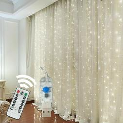 300 LED Curtain Fairy Lights USB String Light With Remote Xm