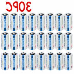 30PC 3V TrustFire Photo Batteries CR123A Lithium CR123 Batte