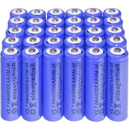 30PC AA 2A battery batteries Bulk Nickel Hydride Rechargeabl