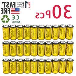 30Pcs CR123A 1800mAh 3.7V 16340 Rechargeable Lithium Batteri