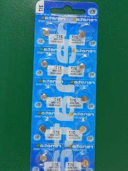 Renata 317 SR516SW  Batteries,  10Pcs