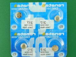 Renata 317 SR516SW  Batteries, 4 Pcs