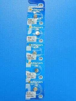 Renata   317  SR516W  Batteries   Button Cell ,5Pcs