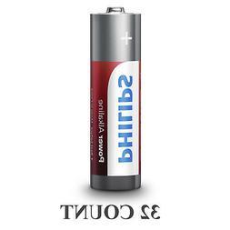 32 Philips AAA Batteries LR03 AM4 Micro 1.5V Power Alkaline