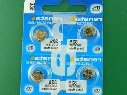 Renata 329 SR731SW Batteries, 4 Pcs
