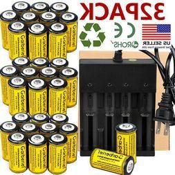 32pc CR123A 3.7V Li-Ion Rechargeable Batteries for Netgear A