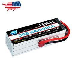 HRB 22.2V 3300mAh RC 6S Lipo Battery 60C 120C for FPV RC Hel