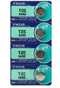 Sony 357 - AG13 -SR44W Button Cell Watch Battery 4 Pack