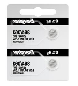 Energizer 364 363 Silver Oxide Coin Cell Batteries 2 Pack Te