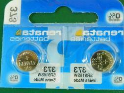 Renata 373 SR916SW Batteries,  2 Pcs