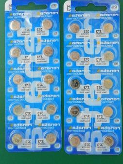 Renata 373 SR916SW Batteries,  20 Pcs