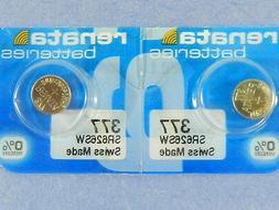 Renata   377  SR626SW  Batteries   Button Cell ,2Pcs