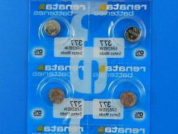 Renata  377  SR626SW  Batteries  Button Cell ,4Pcs