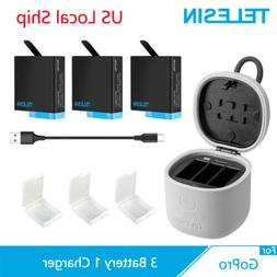 3pack battery 3 ways charger tf card