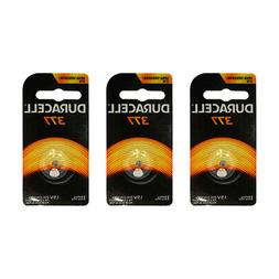 3x Duracell 377 Silver Oxide 1.5v Watch Battery D377 V377 SR