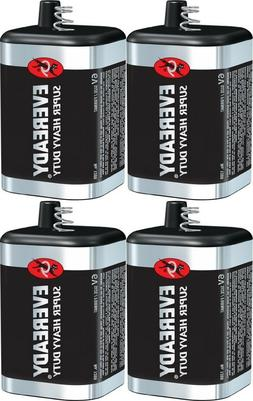 4 Eveready 1209 Zinc-Carbon Super Heavy Duty Lantern 6 Volts