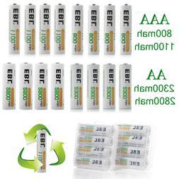 EBL 4/8/16/20pcs AA AAA NI-MH 800/1100/2300/2800mAh Recharge