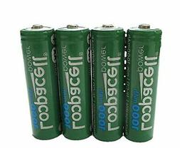 4 Loopacell AA Rechargeable NiCD Battery, 1.2V 1000mAh High