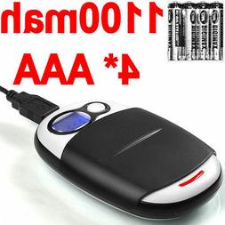 4 AAA NiMH 1100mah Batteries+Extreme  1 Hour AA/AAA LCD Char