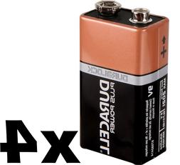 4 FOUR Duracell Coppertop NINE 9 Volt Alkaline Batteries EXP