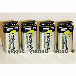 4 Energizer Industrial 9 Volt  Alkaline Batteries
