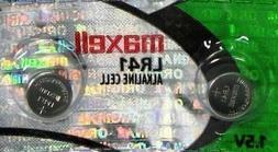 4 Maxell LR41  Batteries. Hologram 4 Pack.