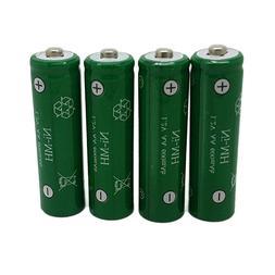 4 Pack AA NiMH Batteries Ni-MH 600mAh 1.2V Rechargeable Batt