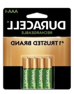 4/pack Duracell AAA Rechargeable Batteries, AAA4 1.2V NiMH E