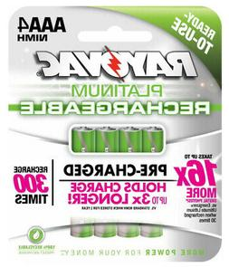 4 Pack RAYOVAC Platinum NiMH Pre-Charged 1.2v Rechargeable A
