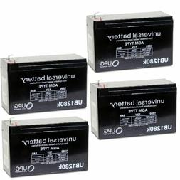 4 PACK UPG 12V 8AH Battery Replacement for VICI Wiring Harne