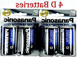 4 Wholesale D Panasonic Battery Batteries super heavy duty B