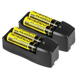 4 x 18650 Battery 6000mAh 3.7V Li-ion Rechargeable Batteries