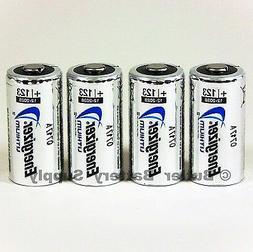 4 x CR123 Energizer 3V Lithium Batteries