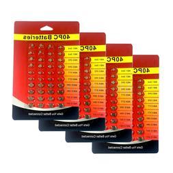 40 - 160 PC Assorted Super Alkaline Button Batteries Coin Ce