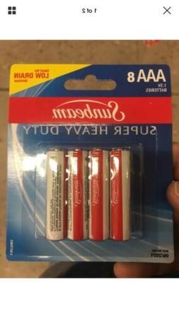 50 Sunbeam Super Heavy Duty Triple AAA Batteries ,8 Come In