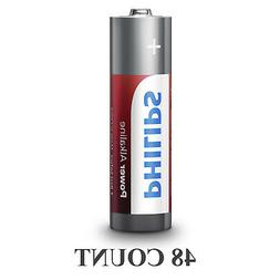 48 Philips AAA Batteries LR03 AM4 Micro 1.5V Power Alkaline