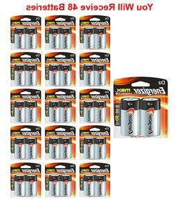 48x Energizer Size D Batteries Alkaline D2 Carded  Exp. 12/2