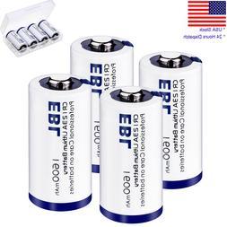 4Pack EBL 3V 1600mAh CR123A Lithium Battery DL123A PL123A Ca