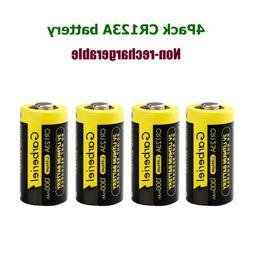 4Pack Garberiel 3V Lithium CR123 Batteries